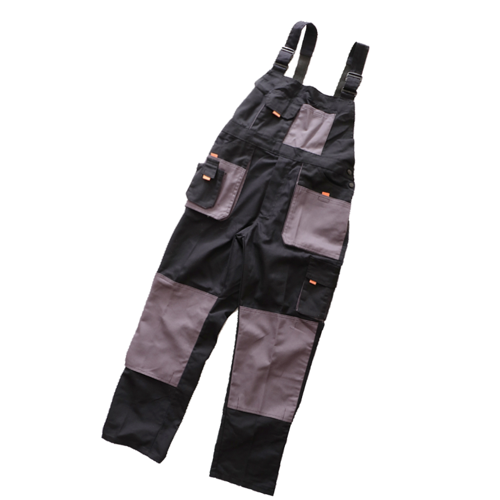 Men Women Working Protective Bib and Brace Overall Garage Repairman Trousers