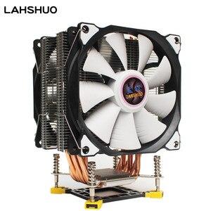 3/4PIN RGB светодиодный Процессор кулер 6-Heatpipe 12V (12 см); 2-вентилятор охлаждения радиатора для LGA 775 1150 1151 1155 1156X58 1366X79 2011