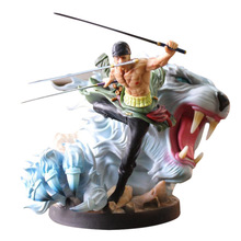 23 cm Anime One Piece Action Figure POP DX Roronoa Zoro FIghting Tiger Ver. PVC Cartoon Figurine Toys Collectible Model Boy Gift цена