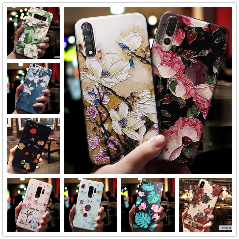 For VIVO V17 Neo Case 3D Flower Emboss Silicone Phone Cases For VIVO Z5 Y7S Cover Soft Coque For Vivo Iqoo Neo V17neo S1 6.38
