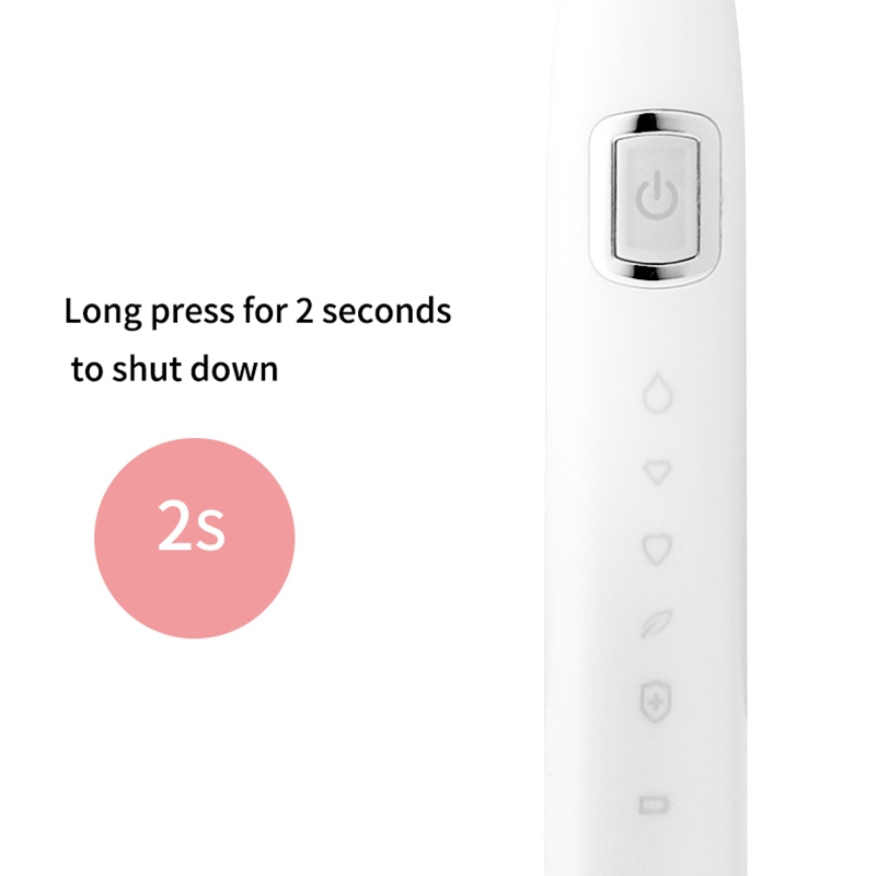 Adult Child Electric Toothbrush USB Induction Rechargeable Electric Toothbrush Sonic Electric Toothbrush IPX7 Waterproof Pink