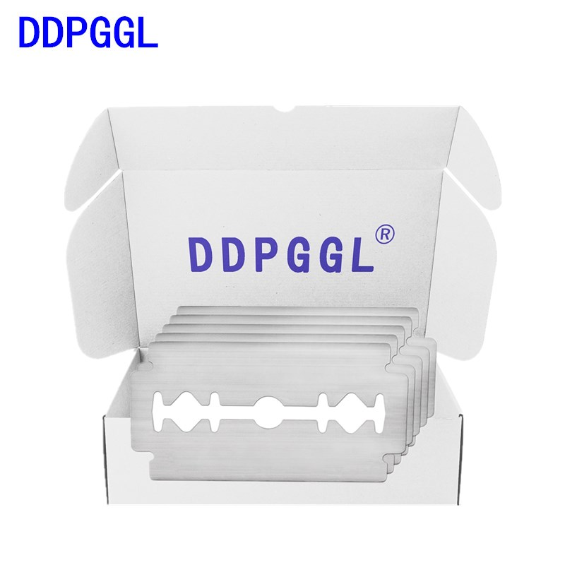DDPGGL 5pcs Double Edge Shaving Razor Blades For Men Face Care Classical Stainless Steel Shaver Beard Manual Shaver