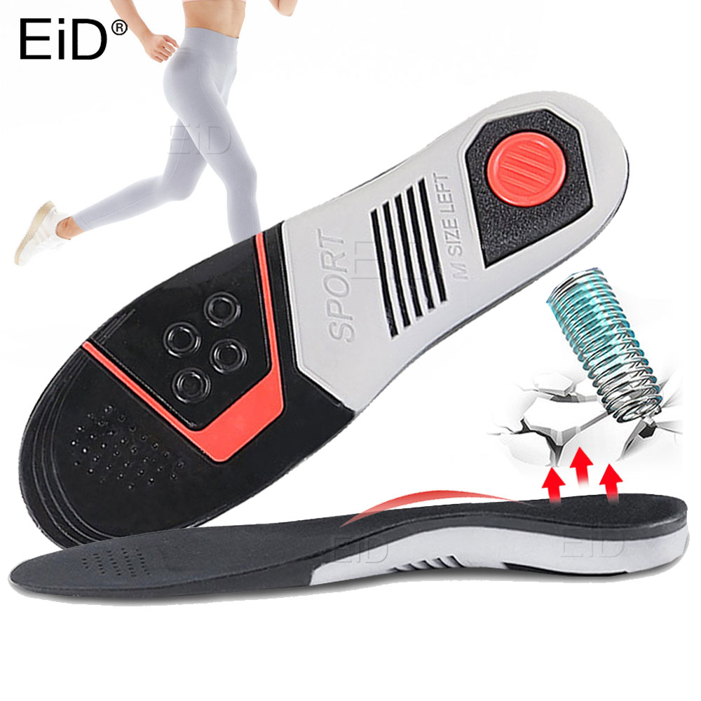 EiD High Elastic EVA Orthotic Insoles For Sport Running Arch Support Orthopedic Shoes Sole Insoles For Men And Women Shoe Pads