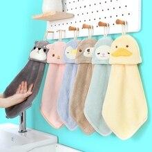 Мультяшные полотенца для рук для ванны младенца для рук, сухое полотенце дети полотенце из микрофибры для кухни быстросохнущие висит полот...