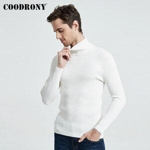 Image 3 - COODRONY Рождественский свитер Мужская одежда 2020 Зимний толстый теплый повседневный трикотажный пуловер с высоким воротом классический чистый цвет джемпер 8253