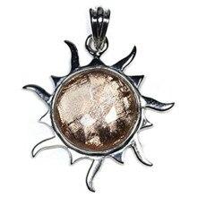 Genuine Natural Gibeon Iron Meteorite Pendant Rose Gold For Women Men Jewelry 30x30x6mm Sun Shape Moldavite Charm Necklace