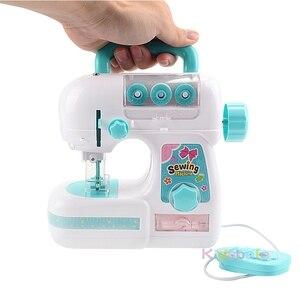 Image 5 - أطفال محاكاة ماكينة خياطة لعبة صغيرة أثاث لعبة تعليمية التعلم تصميم الملابس اللعب الهدايا الإبداعية للأطفال فتاة