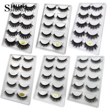 5 pairs mink eyelashes natural 3d mink lashes mink false lashes false eyelashes full strip lashes cilios faux cils()