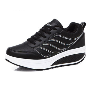 Image 2 - كاوكوم بالجملة أسود المرأة أحذية رياضية المرأة وسادة هوائية سميكة القاع الاحذية حذاء كاجوال أحذية منصة CYL