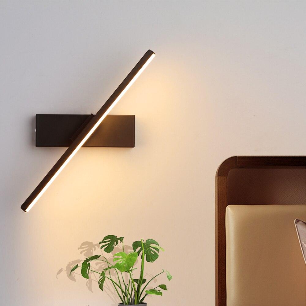 Luce della parete del LED lampada da comodino camera da letto di personalità Nordic moderno e minimalista creativo scale corridoio soggiorno ruotare lampada da parete