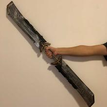 Hot Endgame Cos miecz Thanos Cosplay kostiumy rekwizyty 110cm bronie do Cosplay zbroja obosieczny miecz gadżety na halloween tanie tanio WILD FRUIT Other Kategoria miecz broń Diecast 6 lat Unisex