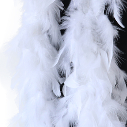 40g Beautiful Turkey Feather Boa 2m Ribbon Feathers For Wedding Party Christmas Tree Decoration Costume Handicraft Accessories
