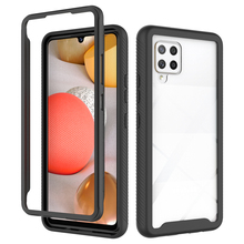 Crystal Case Bumper Back Panel for Coque Samsung A42 5G 2020 Case 360 Protect Hard Phone Shell for Samsung Galaxy A42 Case A 42 tanie tanio Eseble CN(Origin) Half-wrapped Case 2 IN 1 Back Case Crystal Transparent Clear Bumper Shell 360 Protective Plain High Quality Soft TPU+ Hard PC