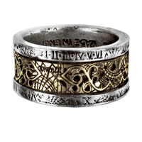 Vintage Gothic Men Ring Metal Stainless Steel Ring Punk Accessory Party Gift