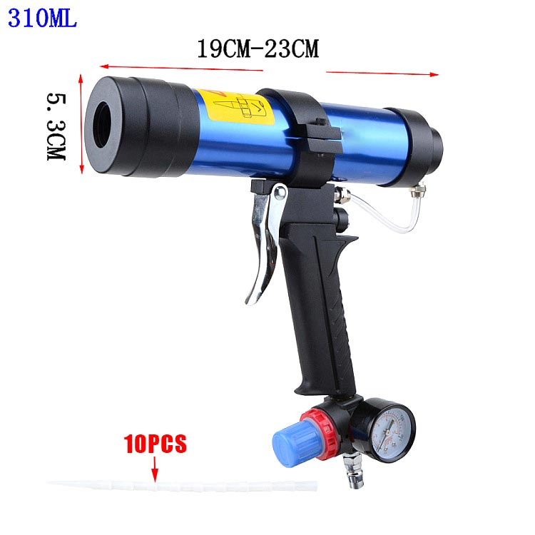 Pneumatic Caulking Gun 310ml Cartridge Gun Paint & Decorating Glass Glue Air Rubber Guns Tools Sealant Finishing Tools