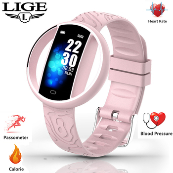 2019 nouveau féminin montre intelligente femmes montre Fitness tracker fréquence cardiaque pression artérielle fonction moniteur étanche Sport smartwatch