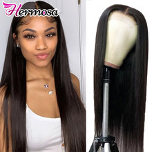 Perruque Lace Frontal Wig 360 malaisienne Remy-Hermosa | Perruque naturelle, cheveux lisses, 13x4/13x6, perruque Lace Front Wig, cheveux humains(China)