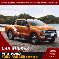 Car Decals Side Body Mud Graphic Vinyl Cool Car Sticker Customized Fit For Ford Ranger 2012 2013 2014 2015 2016 2017 2018 2019