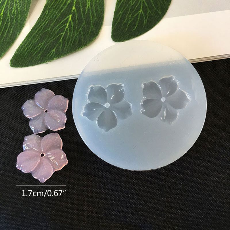 DIY Flower Silicone Molds Resin Camellia Peony Daisy Lotus Flower Jewlery Making X4YA