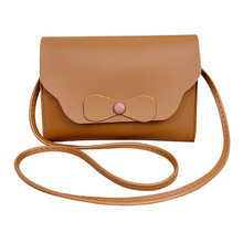 Sweet Simple Bow Small Square Bag Wild Fashion Single Shoulder Bag Personality Messenger Crossbody Bags for Women Flap PU Soft bow decor flap pu bag