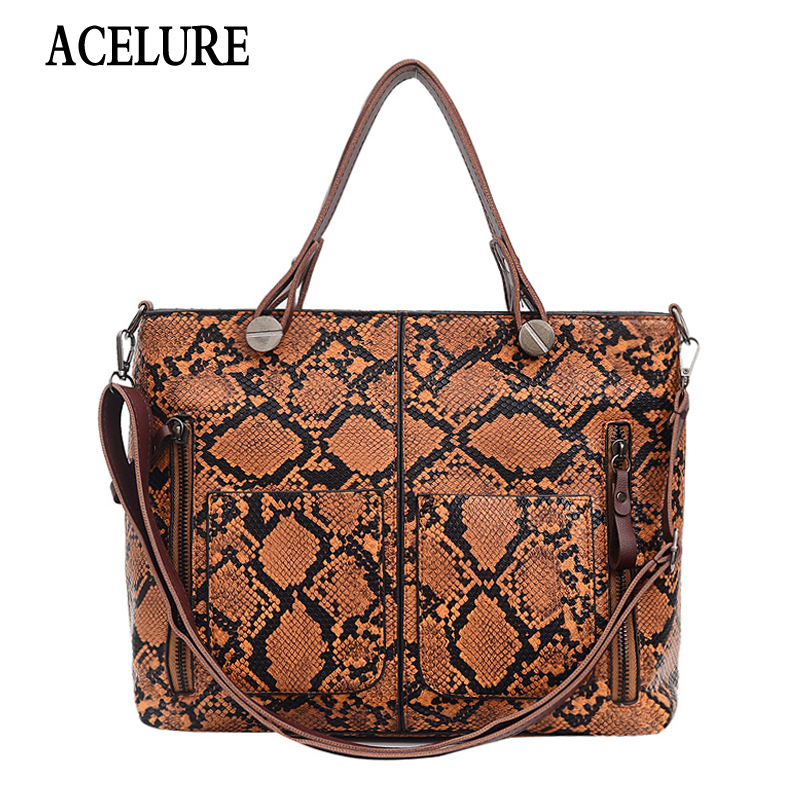 Luxury Handbag Tote Women Bags Designer Fashion PU Leather Shoulder Bags Alligator Crossbody Bag For Women Messenger Bag ACELURE