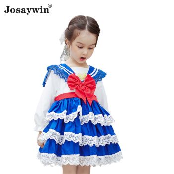 Kids Dress for Girls Baby Autumn Winter Lolita Girl Kawaii Wedding Dress Girl Ball Gown Long Sleeves Girl Princess Party Vestido autumn winter girls princess mini dress kids baby girls party wedding pageant long sleeve sweater dresses cute ball kids costume