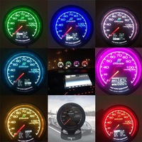 GReddi-Pantalla digital LCD de 7 colores para coche, dispositivo con medidor de turbo, temperatura del agua y aceite, presión del aceite, carreras, relación de presión de combustible y aire