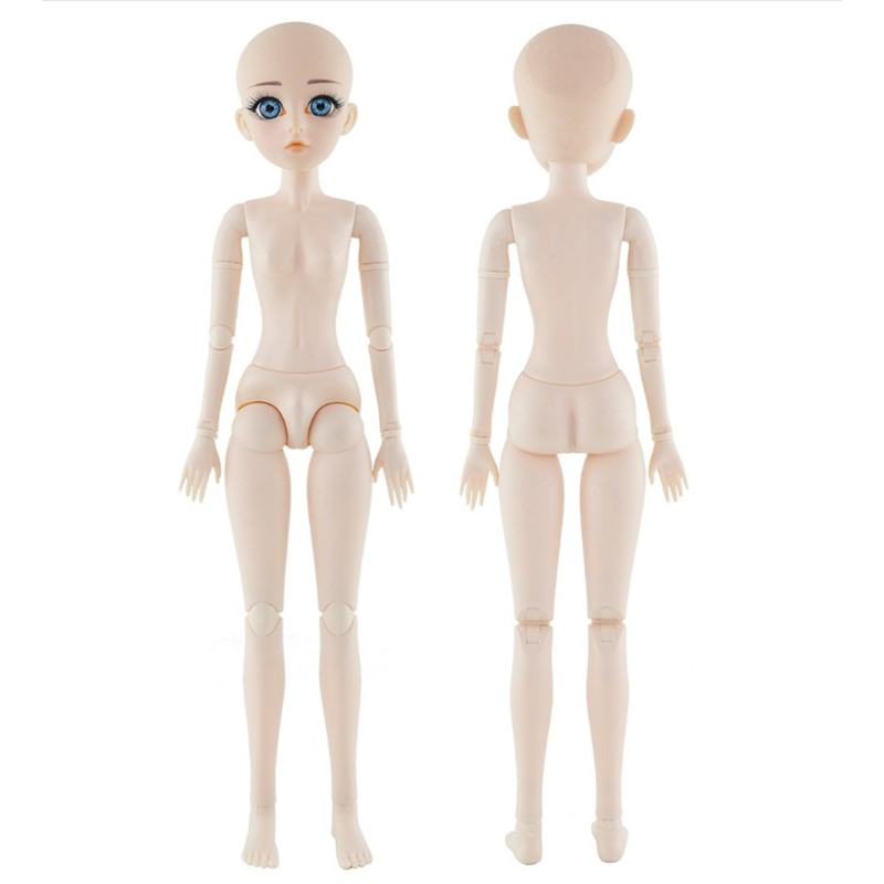 <font><b>Bjd</b></font> Doll <font><b>1/4</b></font> Head with Blue Eye for 45cm doll DIY Toy <font><b>BJD</b></font> New User Makeup 22 Joint 18 Inch Doll Kids Toys for Girls 18MM eyes image