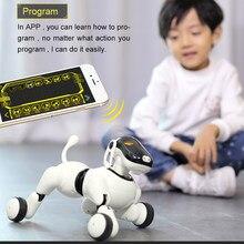 Robô cão ai voz & aplicativo controlado ia brinquedo interativo perro robô dança canta toca música toque controle de movimento brinquedos para crianças