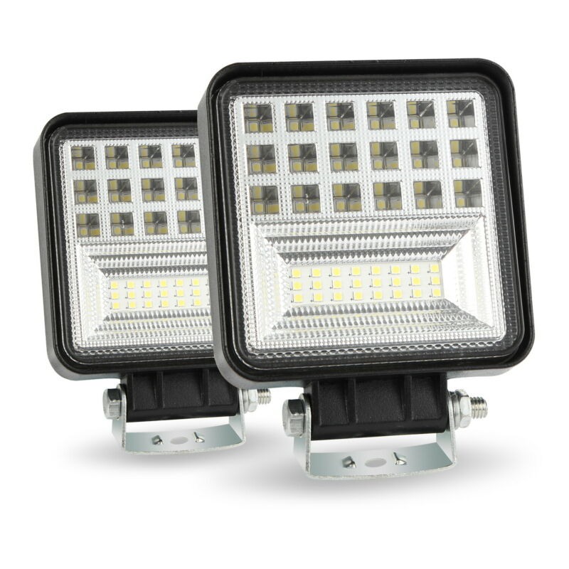 2pcs DC 9-30V 126W 6000K LED Work Light Bar Flood Spot Offroad Car Truck Boat Driving Fog Lamp Car Spotlight Car Accessories