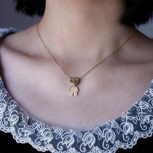 Модное женское ожерелье с подвеской в виде медведя подходит