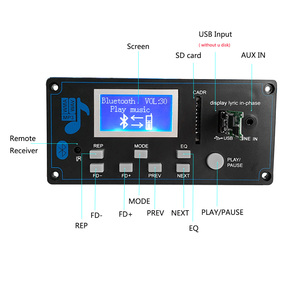 Image 5 - Reproductor MP3 Bluetooth 5,0 para coche, Módulo de placa decodificadora FLAC APE con pantalla LCD KIT de memoria USB FM Aux Radio Lyrics Spectrum Folder Display PW