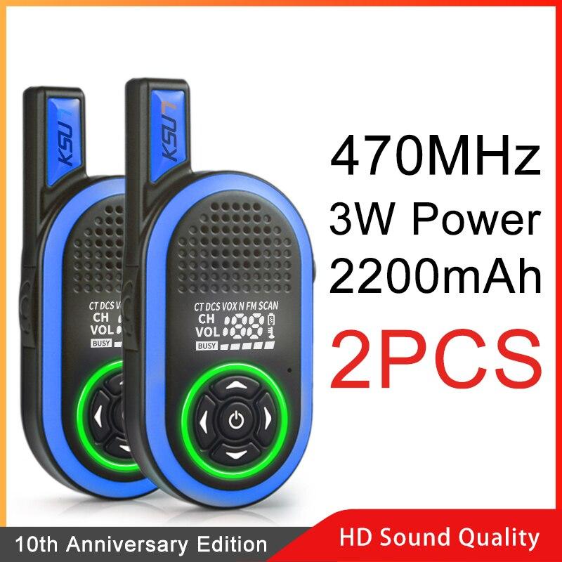 2PCS KSUN KSJNB Civil Kilometer High Power Intercom Outdoor Handheld Mini Walkie Talkie