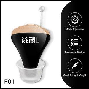 Image 1 - JF1 Beste Hörgeräte CIC Digitale Hörgeräte Ton Verstärker In Die Ohr Tragbare Invisible Senior Batterie 312 DropShipping