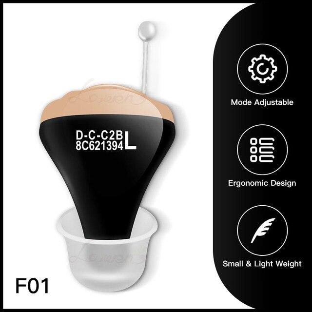 Jf1 melhor aparelhos auditivos cic digital aparelho auditivo amplificador de som no ouvido portátil invisível bateria sênior 312 dropshipping