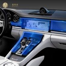 Para Porsche Panamera 2010 2020 del Interior del coche centro de la consola transparente película protectora TPU Anti reparador para arañazos película Accesorios