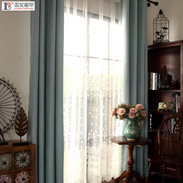 European Embroidered White Curtains for Room Semi-shading Tulles for Living Room Sheer for Dining Room Bedroom