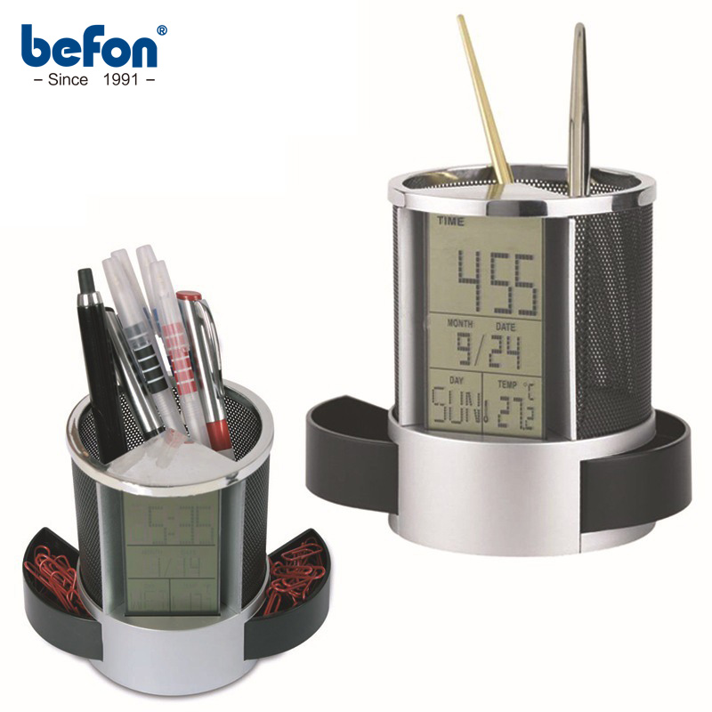 Befon Customized Creative Pen Holder Vase With Calendar Desk Tidy Container Office Organizer Pencil Pot Pen Stand