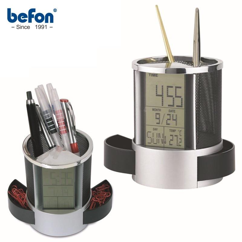 Befon Customized Creative Pen Holder Vase With Calendar Desk Tidy Container Office Organizer Pencil Pot Pen Stand