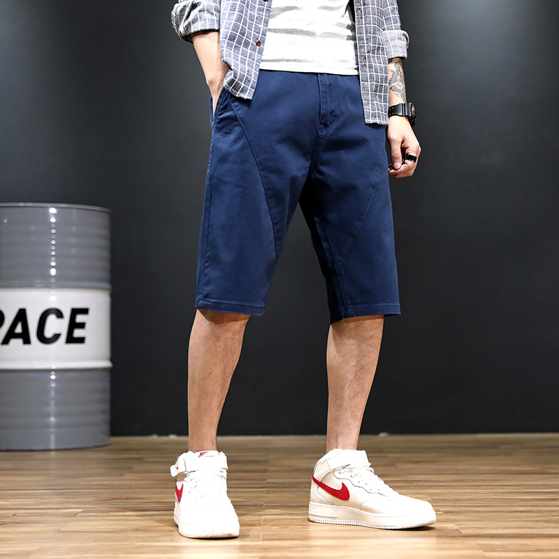 2019 Summer Thin Section Ultra-Large Size Men Straight-Cut Jeans Loose-Fit Plus-sized Men's Casual Long Shorts Fashion