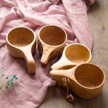 Новая кофейная чашка многоразовая деревянная подарки портативная