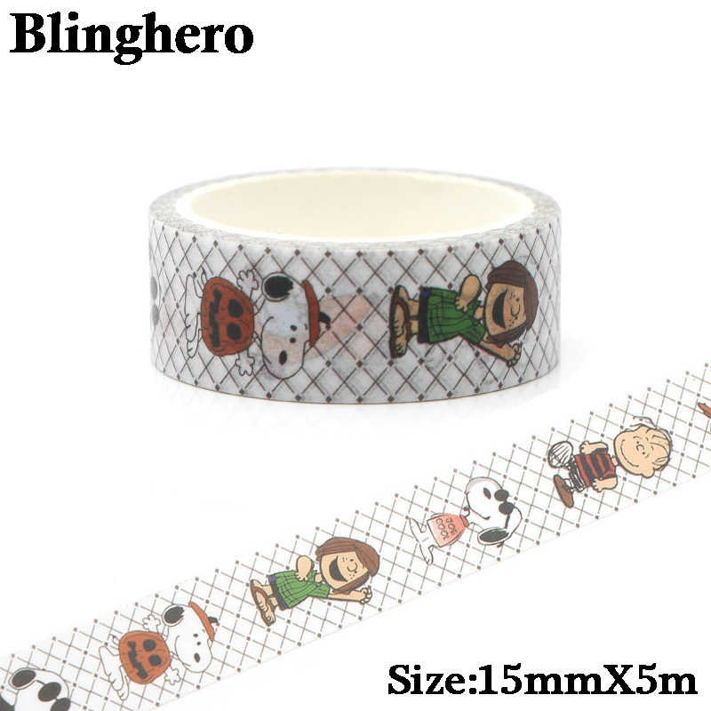 CA157 1.5cm X 5m Cute Dog Kawaii Washi Tape Set Japanese Paper Masking Tape Tapes Stickers Decor Stationery Tape Scrapbooking