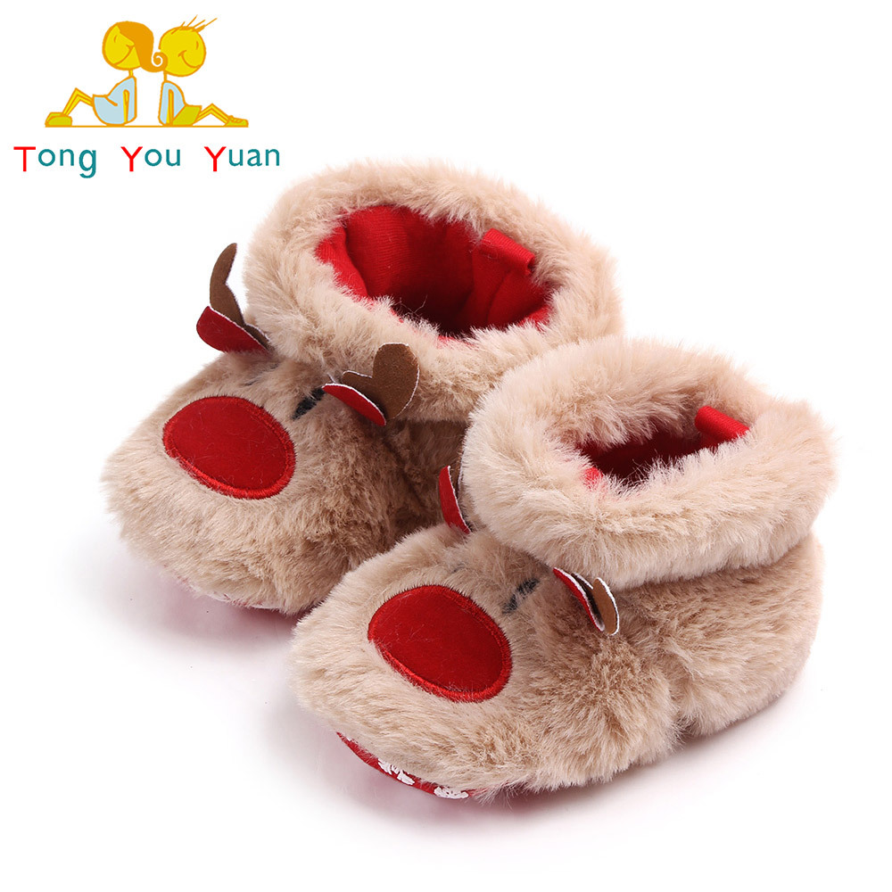 Toddler Shoes Christmas Baby Winter New And Cartoon Anti-Skid 2071 0-1 Soft-Bottom Men