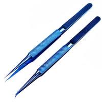 Pinzas de aleación de titanio para reparación de placa base de teléfono móvil, pinzas rectas y curvadas de precisión con huella dactilar