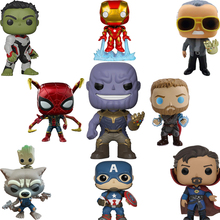 FUNKO POP Marvel Legends Avengers Iron Man Captain America Funko PVC Action Figure Collection Originais Birthday Gifts F48