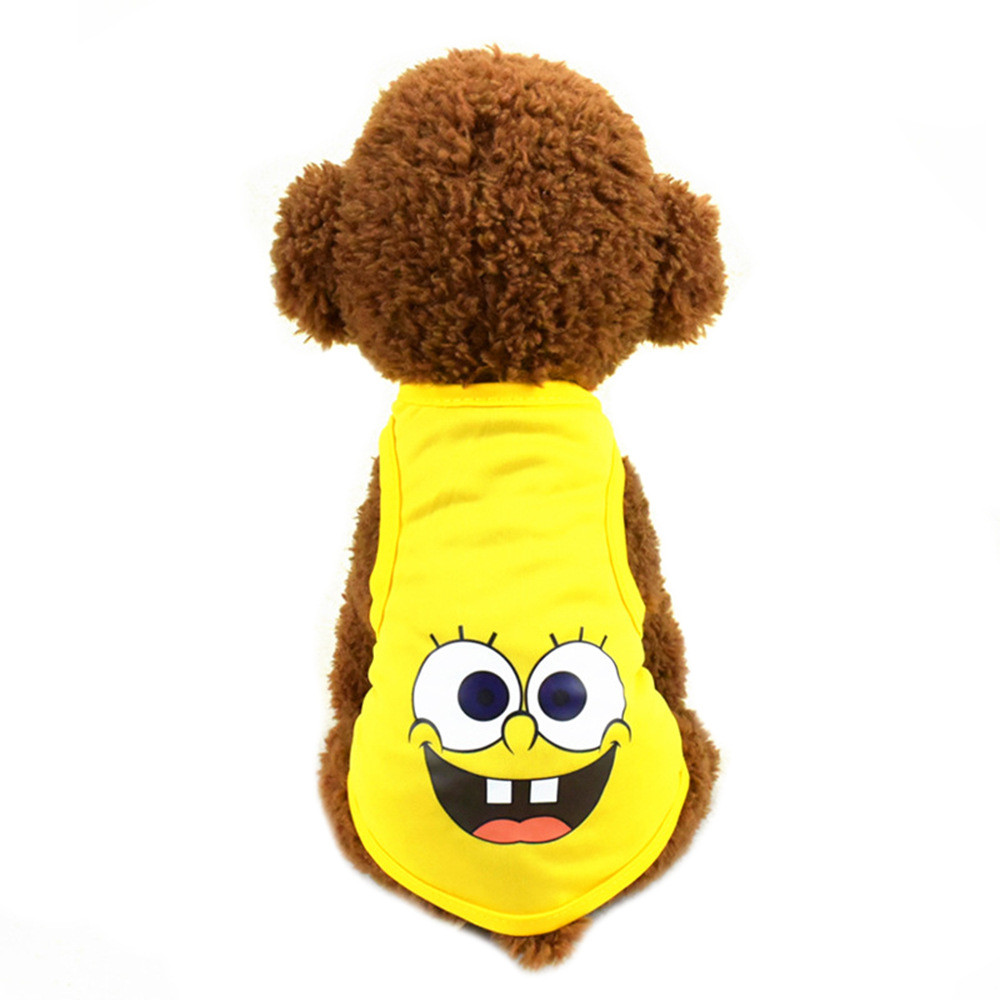 Pet Cat Clothes for Cats Summer Vest T Shirt Dog Cat Clothes Costume for Small Dogs Cartoon Vest for Puppy 35 (16)