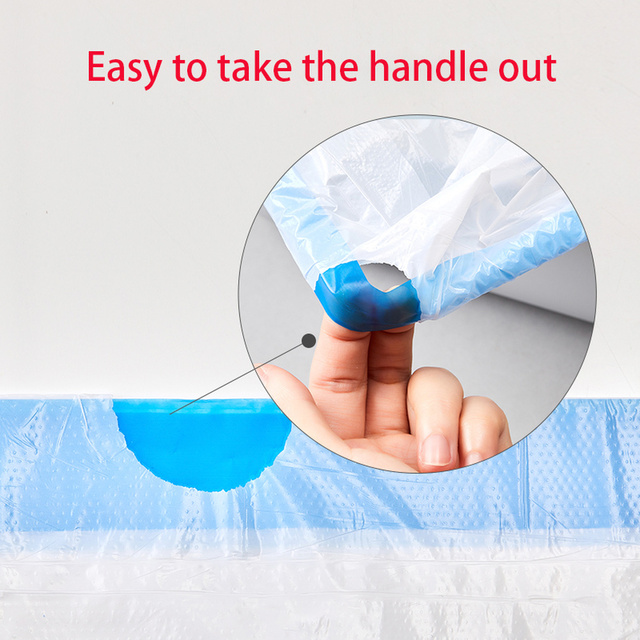 Poop Bag For Automatic Self Cleaning Cat Toilet Tray Box 2 Rollers Bags with Handle Hand Free Litter Box Pan 4