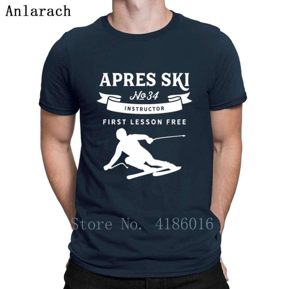 Ski Apres Ski Instru Skiing Ski T-Shirt Funny Novelty Mens tee TShirt