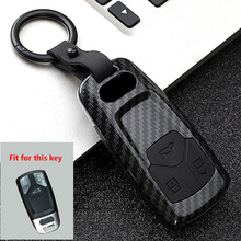 New ABS+Silica gel Carbon fiber Car Key Cover Case For Audi Q3 Q5 Sline A3 A5 A6 C5 A4 B6 B7 B8 TT 80 S6 C6 Remote carKey Jacket