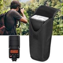 Сумка для вспышки стеганая ткань черная сумка аксессуар фотосъемки